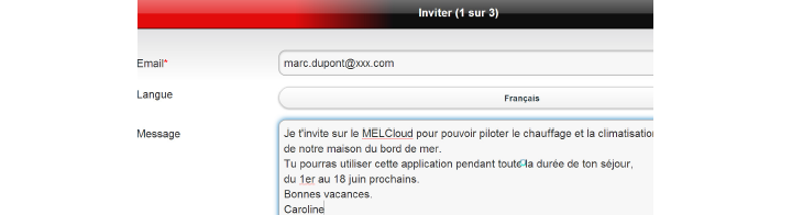 Option invité - MelCloud